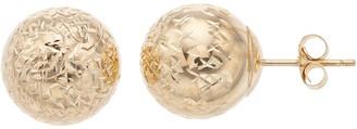 Forever 14k Forever 14K Textured Ball Stud Earrings
