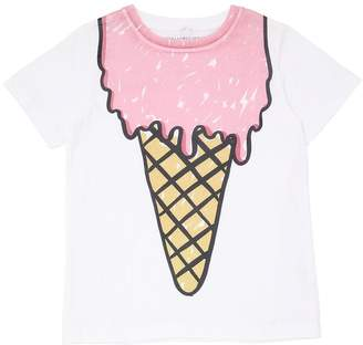 Stella McCartney Ice Cream Cone Cotton Jersey T-Shirt