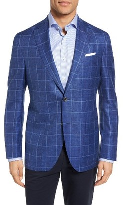 Men's David Donahue Aiden Classic Fit Windowpane Wool Blend Sport Coat $795 thestylecure.com