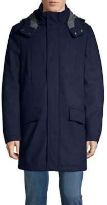 Tommy Hilfiger Wool-Blend Hooded Coat