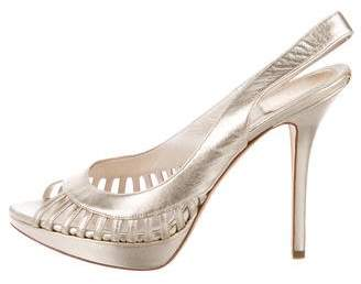 Christian Dior Metallic Slingback Pumps