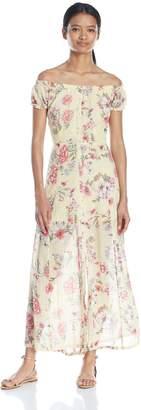Billabong Women's Linger Here Off Shoulder Maxi Dress