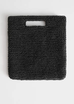 And other stories Woven Straw Clutch