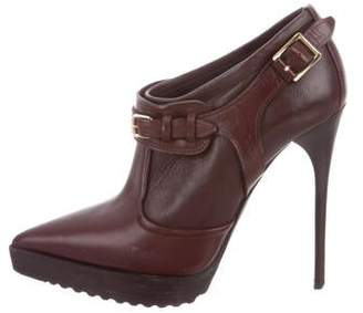Burberry Leather Platform Booties