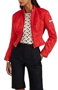 Marine Serre Women's Moiré Slim Jacket - Red