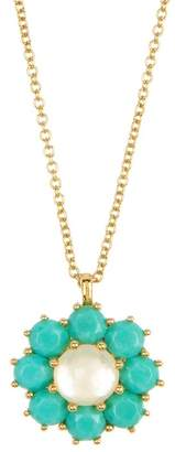 Ippolita 18K Gold Rock Candy(R) Mother-of-Pearl Doublet & Turquoise Flower Pendant Necklace