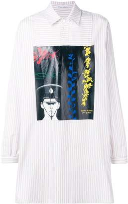 J.W.Anderson off-white Gilbert & George printed tunic shirt