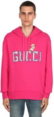 Gucci Logo & Flower Cotton Sweatshirt Hoodie
