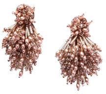 Mignonne Gavigan Burst Beaded Statement Earrings, Blush