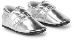 Jack & Lily Baby's Metallic Leather Fringe Booties