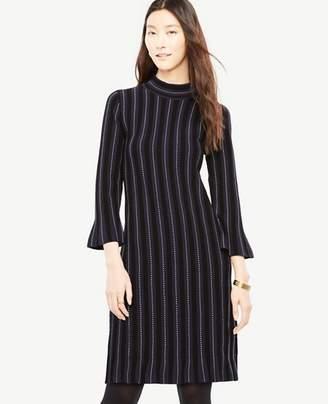 Ann Taylor Stitch Striped Sweater Dress
