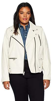 Levi's Size Women's Plus Faux Leather Contemporary Motorcycle Jacket