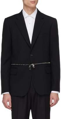 Alexander McQueen Zip waist virgin wool blazer