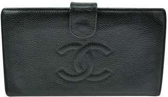 Chanel Vintage Navy Leather Wallets