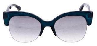 Jimmy Choo Glitter Rimless Mirrored Sunglasses