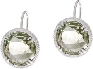 Delatori DeLatori Sterling Silver Green Quartz or Blue Topaz Drop Earrings