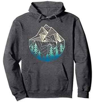 Minimal Mountains Geometry Outdoor Hiking Hoodies