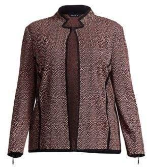 Misook Misook, Plus Size Tweed Pattern Jacket