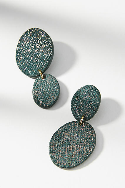 Nora Lozza Dual Moon Drop Earrings