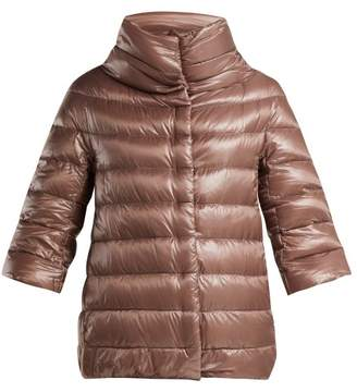 Herno Aminta Funnel Neck Nylon Quilted Jacket - Womens - Mid Pink