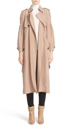 Women's Burberry Maythorne Mulberry Silk Trench $2,395 thestylecure.com