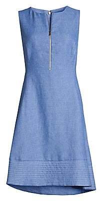 Donna Karan Women's Zip Front Fit-&-Flare Dress