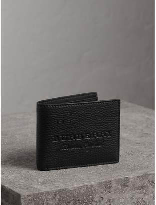 Burberry Textured Leather Bifold Wallet