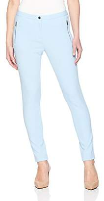Calvin Klein Women's Petite Scuba Crepe Side Zipper Pant