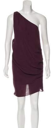 Haute Hippie Silk One-Shoulder Dress