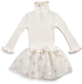 024f21941e Toddler Girls Bell Sleeve Turtleneck Sweater Dress