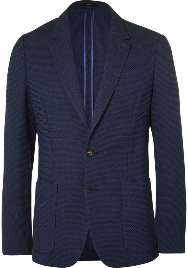 Paul Smith Paul Smith Blue Slim-Fit Unstructured Merino Wool Blazer