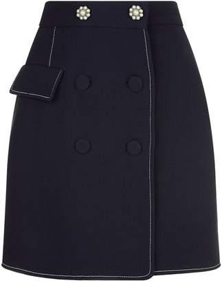 Markus Lupfer Ava Pearl Embellished Mini Skirt