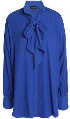 By Malene Birger Pussy-Bow Crepe Blouse