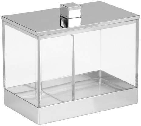 Rectangular Bathroom Vanity Canister with Dividers 4.6