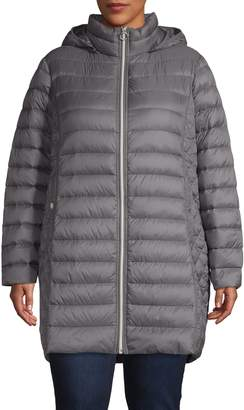 MICHAEL Michael Kors Plus Packable Quilted Down Jacket