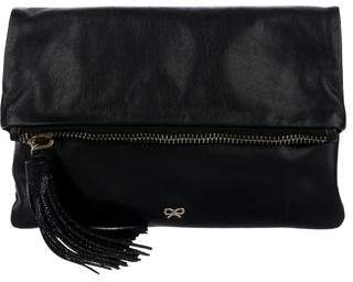 Anya Hindmarch Stingray-Trimmed Foldover Clutch