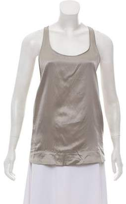 Helmut Lang Silk Sleeveless Top