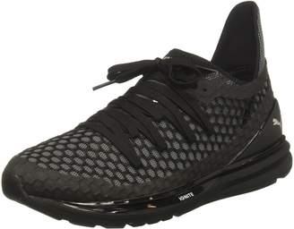 Puma Men's Ignite Limitless Netfit Running Shoes, Olive Night/Cherry Tomato