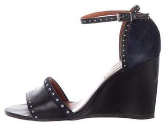 Lanvin Studded Leather Wedges