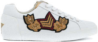 Ash embroidered patch detail sneakers