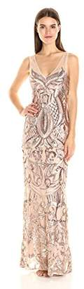 Adrianna Papell Women's Sleeveless Sequin Beaded Gown $249 thestylecure.com