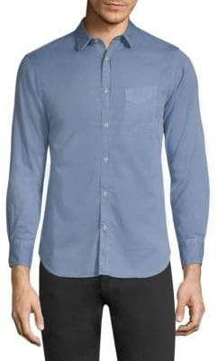 Officine Generale Lipp Stitch Pigment Dyed Shirt