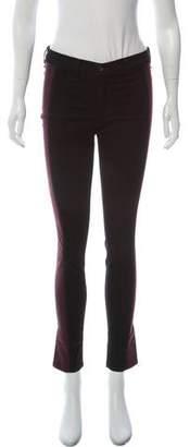 Rag & Bone Side Paneled Mid-Rise Skinny Jeans