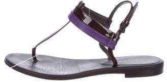 Bottega Veneta Patent Leather T-Strap Sandals