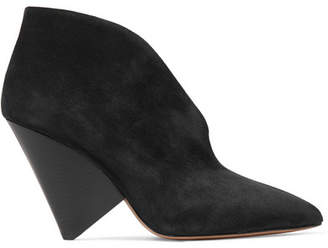 Isabel Marant Adenn Suede Ankle Boots - Black