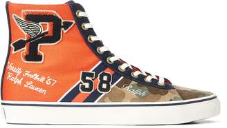 Ralph Lauren Solomon Suede & Canvas Sneaker