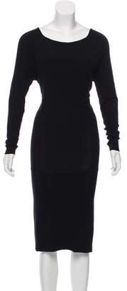 Donna Karan Rib-Knit Midi Dress