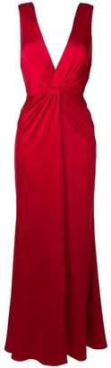 Amiri V-neck maxi gown