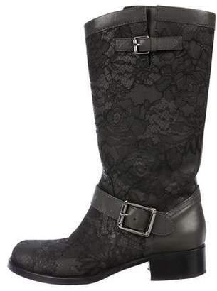 Valentino Lace Mid-Calf Boots