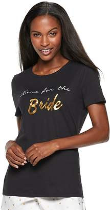 Apt. 9 Women's Graphic Bridal Pajama Tee